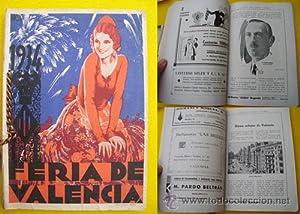 Programa de Festejos VALENCIA Y SU FERIA DE JULIO 1934: VARIOS .
