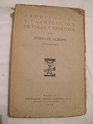 PROPIEDADES Y FABRICACIÓN DE CALES Y CEMENTOS: ALBERTI Tomás de