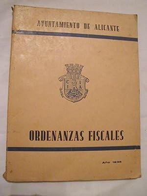 ORDENANZAS FISCALES. Ayuntamiento Alicante: Sin autor