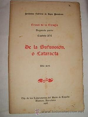 DE LA ZUFUSSION O CATARATA: AQUA PENDENTE Jerónimo Fabricio de