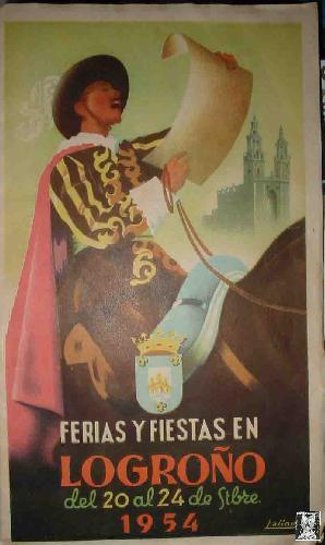 FERIAS Y FIESTAS EN LOGROÑO DEL 20 AL 24 DE STBRE 1954: Sin autor