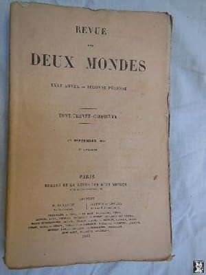 REVUE DES DEUX MONDES. T 35, 1er septembre 1861.: QUINET Edgar; TAILLANDIER Saint René; ERCKMANN ...