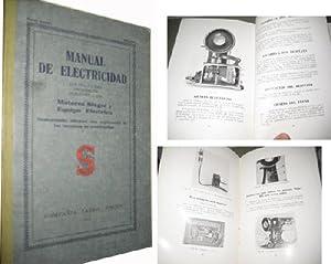 MANUAL DE ELECTRICIDAD. Motores Singer y Equipo Eléctrico.: Sin autor