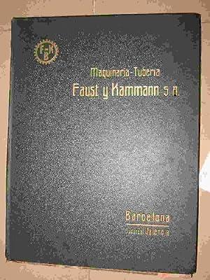 CATALOGO DE MAQUINARIA-TUBERIA FAUST Y KAMMANN S.A.: Sin autor