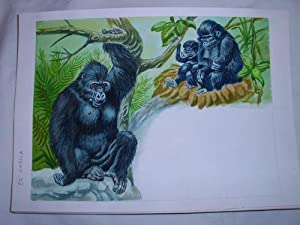 Acuarela Original - Original Watercolor : EL GORILA: MASCAROS AMADOR Francisco