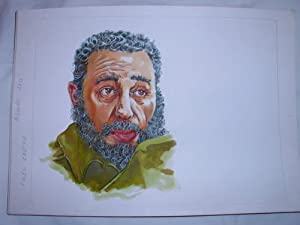 Acuarela Original - Original Watercolor : FIDEL CASTRO: MASCAROS AMADOR Francisco