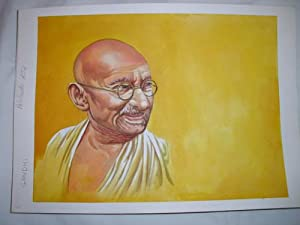 Acuarela Original - Original Watercolor : GANDHI: MASCAROS AMADOR Francisco