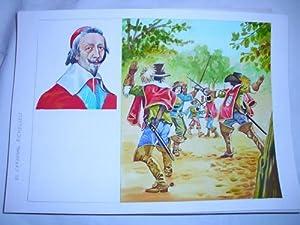 Acuarela Original - Original Watercolor : EL CARDENAL RICHELIEU: MASCAROS AMADOR Francisco