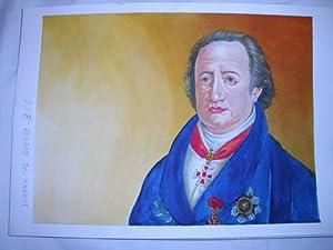 Acuarela Original - Original Watercolor : JOHANN W.GOETHE: MASCAROS AMADOR Francisco
