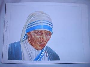 Acuarela Original - Original Watercolor : MADRE TERESA DE CALCUTA: MASCAROS AMADOR Francisco