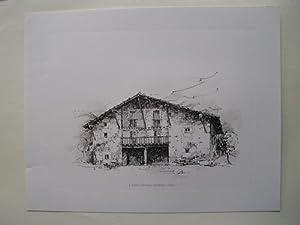 Litografía - Lithography : CASERÍO ZIORRAGA - ASTOBIZA - ALAVA: Sin autor