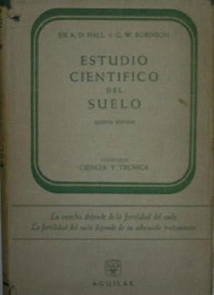 ESTUDIO CIENTIFICO DEL SUELO: HALL A.D. y ROBINSON G.W.