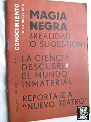 CONOCIMIENTO DE LA NUEVA ERA. N 331. 1965. Magia negra: Sin autor