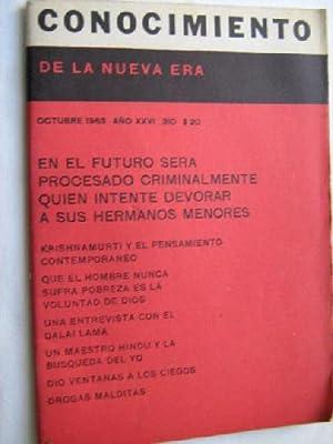 CONOCIMIENTO DE LA NUEVA ERA. N 310. 1963. En el futuro será procesado criminalmente quien ...