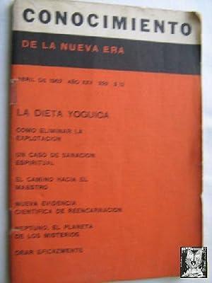 CONOCIMIENTO DE LA NUEVA ERA. Nº 292. 1962. La dieta yóguica: Sin autor
