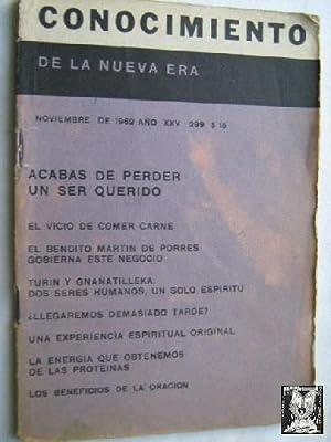 CONOCIMIENTO DE LA NUEVA ERA. Nº 299. 1962. Acabas de perder a un ser querido: Sin autor