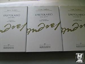 EPISTOLARIO (1740-1817) (3 volúmenes): ANDRÉS y MORELL, Juan; BRUNORI Livia (edición)