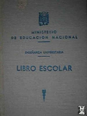LIBRO ESCOLAR. Enseñanza Universitaria (EN BLANCO)