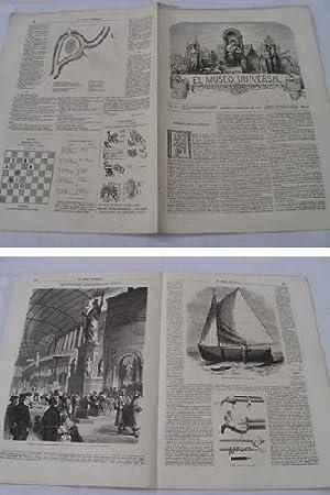 EL MUSEO UNIVERSAL. 14 julio 1867. Núm.28, año XI.: GASPAR D.J. (Director)