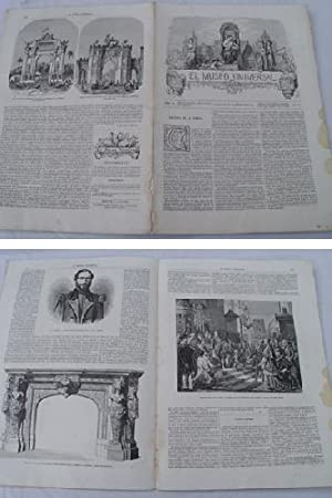 EL MUSEO UNIVERSAL. 28 diciembre 1862. Núm.52, año VI.: GASPAR D.J. (Director)