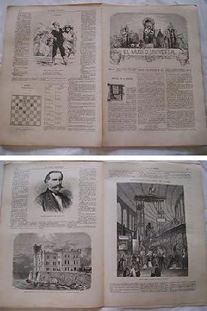 EL MUSEO UNIVERSAL. 5 octubre 1867. Núm.40, año XI.: GASPAR D.J. (Director)