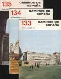 RUTA 133, 134 y 135 CAMINOS DE ESPAÑA. SANTANDER (I), (II), (III): Sin autor
