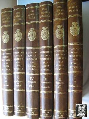 DICCIONARIO MANUAL E ILUSTRADO DE LA LENGUA ESPAÑOLA (6 volúmenes): Sin autor