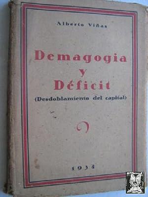DEMAGOGIA Y DÉFICIT (DESDOBLAMIENTO DEL CAPITAL): VIÑAS, Alberto