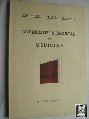 ANUARIO DE LA FACULTAD DE MEDICINA. Curso 1962-1963: Sin autor