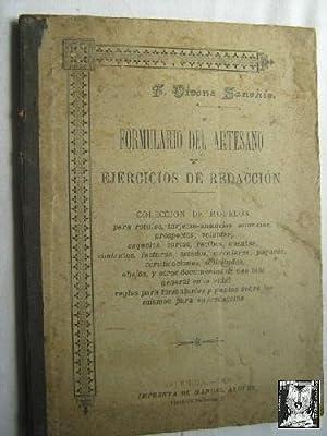 FORMULARIO DEL ARTESANO Y EJERCICIOS DE REDACCIÓN: VIVÉNS SANCHIS, Francisco