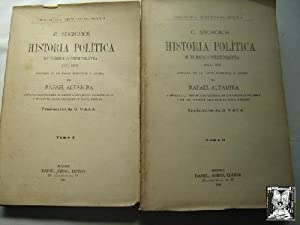 HISTORIA POLÍTICA DE EUROPA CONTEMPORÁNEA 1814-1896 (2 volúmenes): SEIGNOBOS, ...