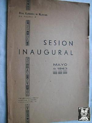 SESIÓN INAUGURAL: REIG PASTOR, Francisco y BENLLOCH GINER, Nicasio