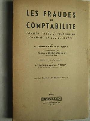 LES FRAUDES EN COMPTABILITE: JENNY, Ernest G.