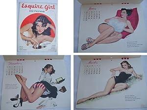 Calendario completo - Complet Calendar : ESQUIRE GIRL 1952. Pin-up: CHIRIAKA, PATTERSON Robert, ...