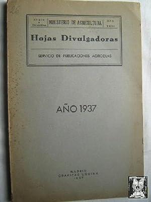 HOJAS DICULGADORAS. SERVICIO DE PUBLICACIONES AGRÍCOLAS. De enero a diciembre. AÑO ...