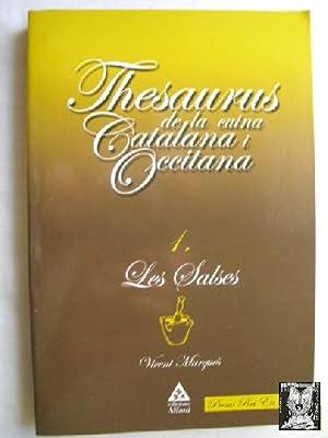 THESAURUS DE LA CUINA CATALANA I OCCITANA. 1 Les salses: MARQUÉS, Vicent