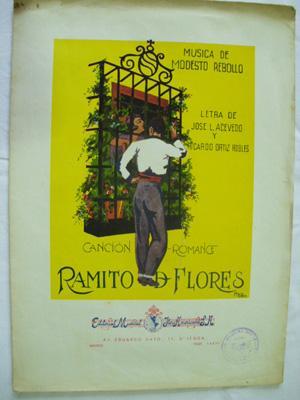 Partitura - Musical Score: RAMITO DE FLORES - Canción romance: REBOLLO Modesto (música) ...