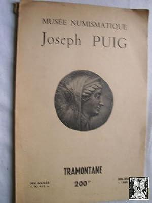 MUSÉE NUMISMATIQUE JOSEPH PUIG. XLII, Année Nº 413: Sin autor