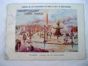 Folleto Publicidad - Advertising Brochure : TEMPORADA TERMAL 1905, ESPAÑA FRANCIA - FERROCARRILES