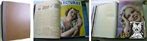LECTURAS (12 números encuadernados) 1936 Enero a Diciembre: Sin autor