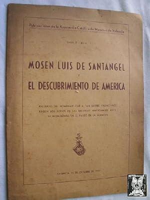 MOSÉN LUIS DE SANTANGEL Y EL DESCUBRIMIENTO DE AMÉRICA: Sin autor