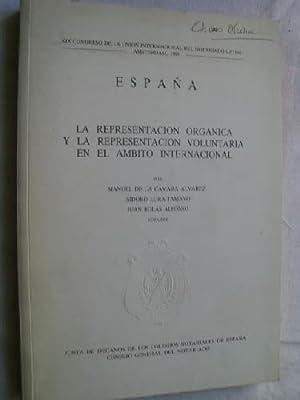 ESPAÑA, LA REPRESENTACIÓN ORGÁNICA Y LA REPRESENTACIÓN: DE LA CÁMARA