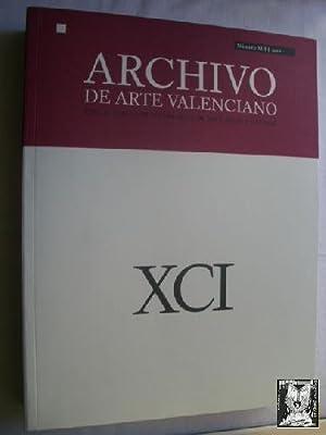 ARCHIVO DE ARTE VALENCIANO. XCI. 2010: AAVV