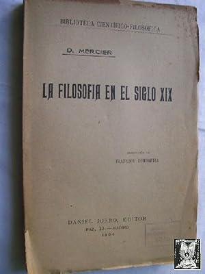 LA FILOSOFÍA EN EL SIGLO XIX: MERCIER, D.