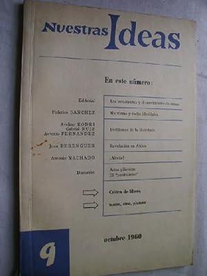 NUESTRAS IDEAS. Nº 9 Octubre 1960: Sin autor