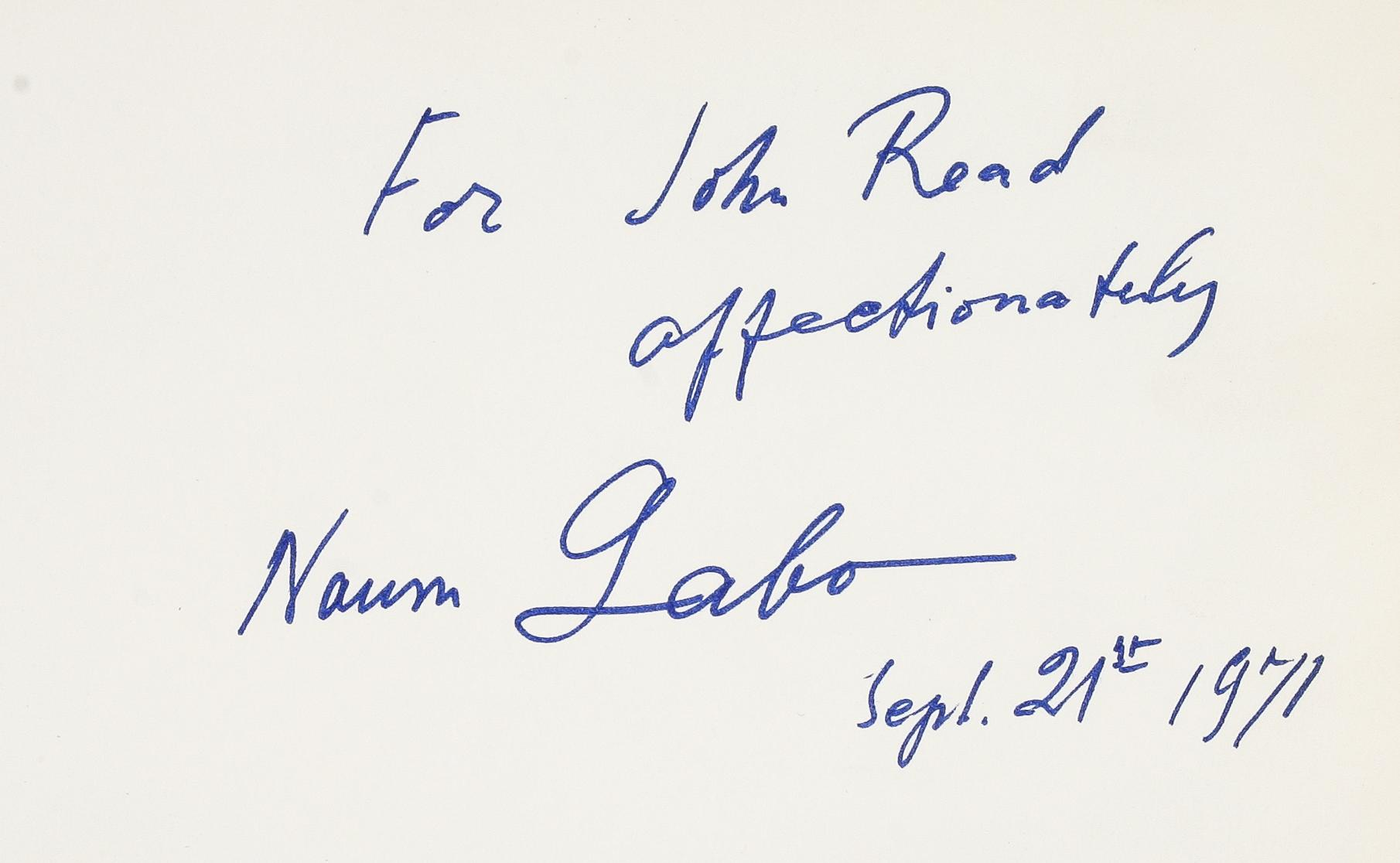 Constructions, Sculpture, Paintings, Drawings, Engravings. GABO Naum.; READ Herbert.; MARTIN Leslie