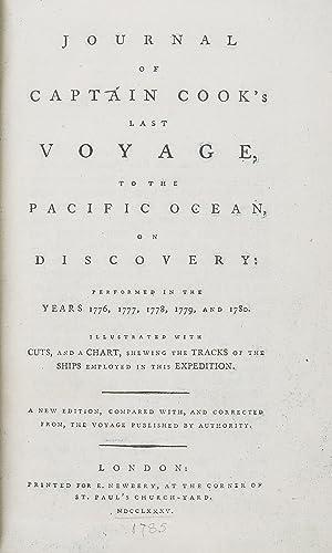 Journal of Captain Cook's Last Voyage to: RICKMAN Lieut. John