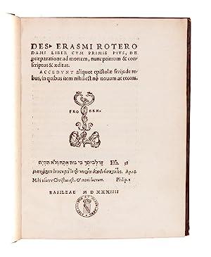 Liber cum primis pius, de praeparatione ad: ERASMUS Desiderius