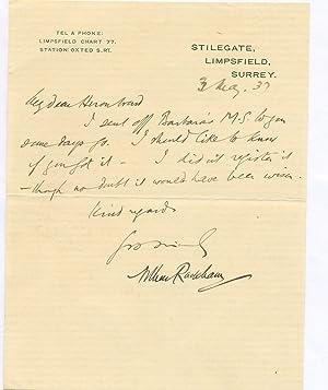RACKHAM, Arthur (1867-1939), Artist and Illustrator: RACKHAM, Arthur 1867-1939