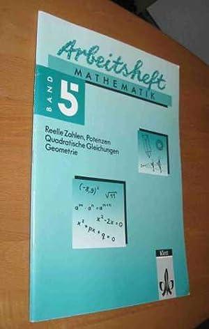 Arbeitsheft Mathematik Band 5: Böhmer, Jander, Schlake,